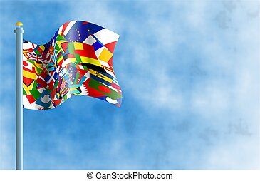 κόσμοs , σημαία