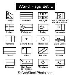 κόσμοs , σημαίες , θέτω , 5 , ., απλό , ρυθμός , και , διαμέρισμα , σχεδιάζω , ., ηλίθιος , περίγραμμα , .