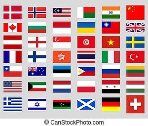 κόσμοs , σημαίες , συλλογή