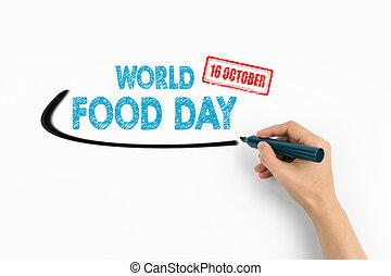 κόσμοs , τροφή , ημέρα , 16 , october., εδάφιο , επάνω , ένα , αγαθός φόντο