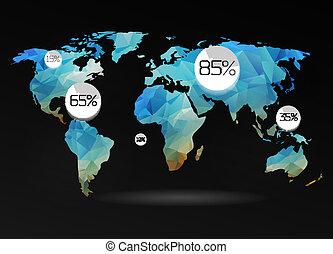 κόσμοs , φόντο , χάρτηs