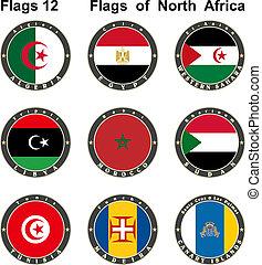 κόσμοs , flags., βόρεια , αφρική.