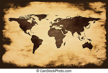κόσμοs , grunge , φόντο , χάρτηs