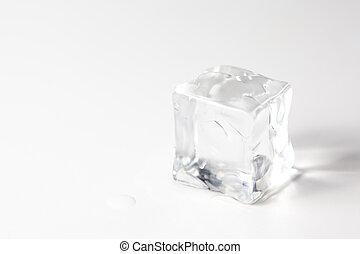 κύβος , απομονωμένος , πάγοs