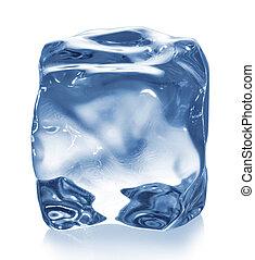 κύβος , απομονωμένος , πάγοs , white.
