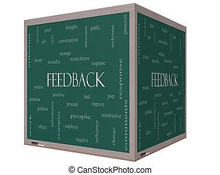 κύβος , λέξη , ανάδραση , μαυροπίνακας , γενική ιδέα , σύνεφο , 3d