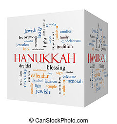 κύβος , λέξη , hanukkah , γενική ιδέα , σύνεφο , 3d