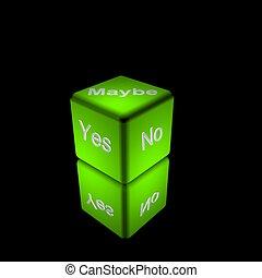 κύβος , πράσινο
