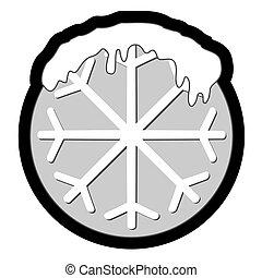 κύκλοs , χιόνι , εικόνα