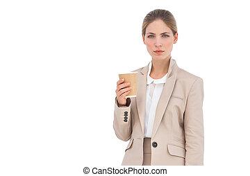 κύπελο , καφέs , επιχειρηματίαs γυναίκα