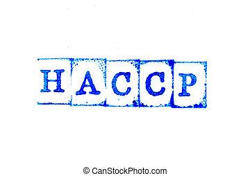 λάστιχο , λέξη , ανάλυση , (hazard, διακόπτης , φόντο , points), γραμματόσημο , άσπρο , μπλε , επικριτικός , μελάνι , χαρτί , haccp