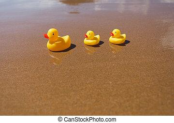 λάστιχο , παραλία , κίτρινο , βουτώ