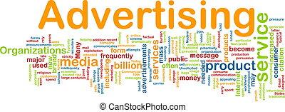 λέξη , διαφήμιση , σύνεφο