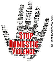 λέξη , εγχώριος βία , σταματώ , σχήμα , σύνεφο