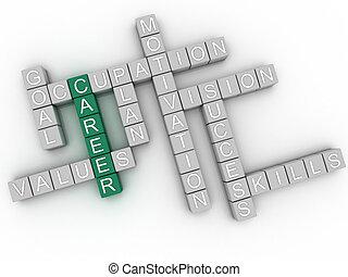 λέξη , εικόνα , φόντο , 3d , σύνεφο , σταδιοδρομία , γενική ιδέα , απόγονοι