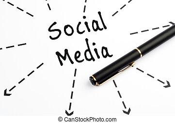 λέξη , μέσα ενημέρωσης , βέλος , wih, πένα , κοινωνικός