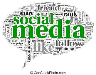 λέξη , μέσα ενημέρωσης , ετικέτα , κοινωνικός , conept, ...
