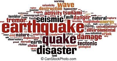 λέξη , σεισμός , σύνεφο