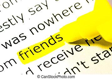 λέξη , φίλοs