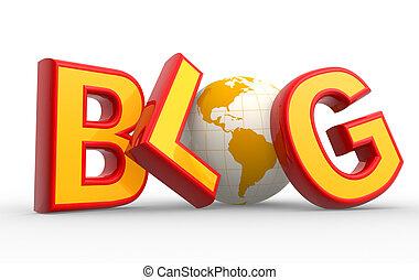 """λέξη , """"blog"""""""