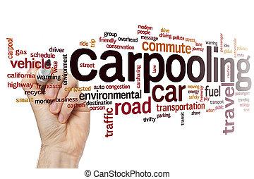 λέξη , carpooling , σύνεφο