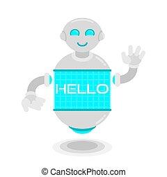 λέω , μέλλον , ρομπότ , γειά