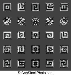 λαβύρινθος , γραμμικός , απεικόνιση
