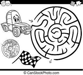 λαβύρινθος , μπογιά , σελίδα , αυτοκίνητο