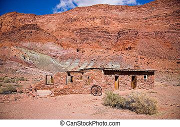 λαγκάδα , περιοχή , αναψυχή , arizona , εθνικός , lee\'s, φαράγγι , φρούριο , διαπορθμεύω , διαπορθμεύω