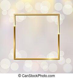 λαμπερός , αφρώδης , μικροβιοφορέας , φόντο , χρυσαφένιος , εικόνα , θολός , τετράγωνο