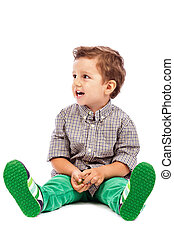 λατρευτός , μικρό αγόρι , βαρύνω αναμμένος άρθρο αποστομώνω , και , looking at , κάτι , εναντίον , αγαθός φόντο