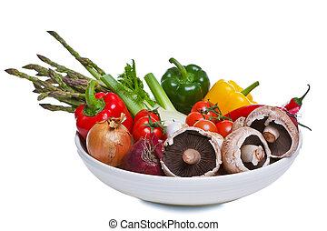 λαχανικά , γαβάθα , απομονωμένος , white.