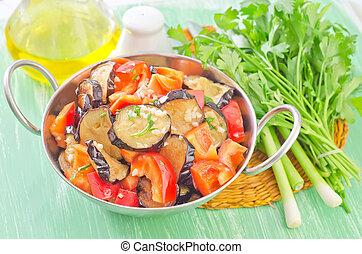 λαχανικά , τηγανητός