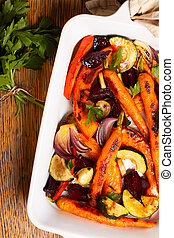 λαχανικά , ψήνομαι