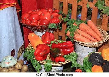 λαχανικό , αγροτικός , θέτω , αγορά