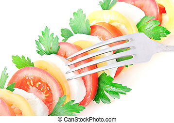 λαχανικό , φρέσκος , σαλάτα , τυρί