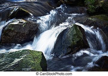 λεπτομέρεια , άνοιξη , ποτάμι , καταρράκτης