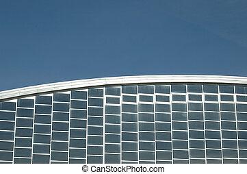 λεπτομέρεια , από , ένα , κτίριο , από , μοντέρνος αρχιτεκτονική