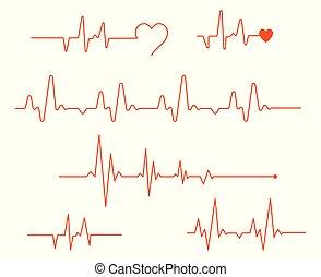 λεπτός , καρδιά , διαμέρισμα , μοντέρνος , set., τιμωρία σε μαθητές να γράφουν το ίδιο πολλές φορές , καρδιογράφημα , λείος , γραμμή , φάρμακο , αγάπη , φόρμα , όσπριο , κόκκινο , pulse., colors., απεικόνιση , άσπρο , ηλίθιος , vector.