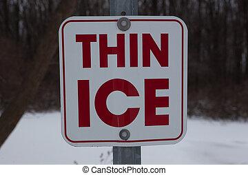 λεπτός , πάγοs , σήμα