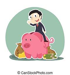 λεφτά ακτή , γουρουνάκι , λώτ , επιχειρηματίας