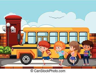 λεωφορείο , αγέλη ιχθύων άπειρος , τρέξιμο , αποκτώ