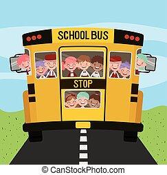 λεωφορείο , αγέλη ιχθύων αστειεύομαι , δρόμοs