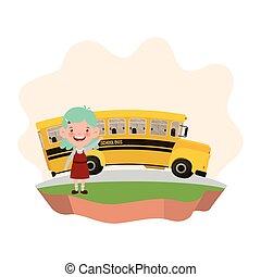 λεωφορείο , αγέλη ιχθύων δεσποινάριο , σπουδαστής , εθνική οδόs