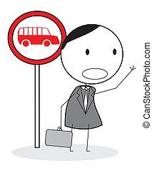 λεωφορείο , αναμονή