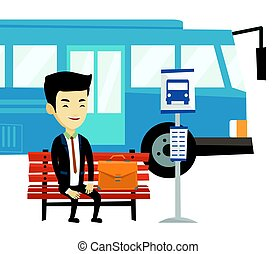 λεωφορείο , αναμονή , stop., αρμοδιότητα ανήρ