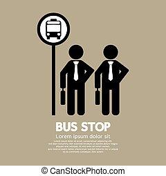 λεωφορείο , αναμονή , stop.
