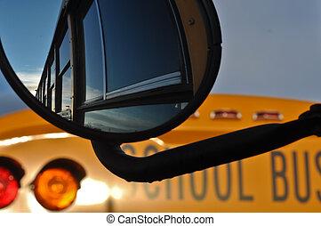λεωφορείο , ιζβογις , αντανάκλαση , καθρέφτηs