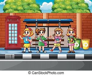 λεωφορείο , ιζβογις , σταματώ , παιδιά , ευτυχισμένος