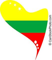 λιθουανία , μέσα , καρδιά , εικόνα , σημαία